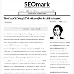 The Cost Of Doing SEO In-House (For Small Businesses)