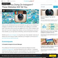 How Are You Doing On Instagram? These Websites Will Tell You