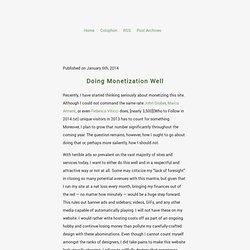 Doing Monetization Well - Zac J. Szewczyk