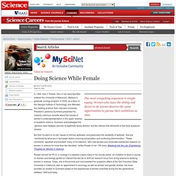 Doing Science While Female