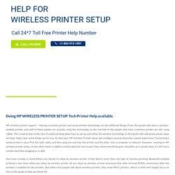Doing HP WIRELESS PRINTER SETUP ? Call +1-863-913-1001