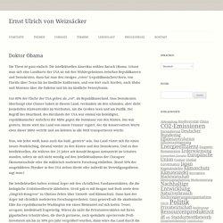 Doktor Obama - Ernst Ulrich von Weizsäcker