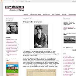 Dokument i fokus: Kvinnoröster ur arkiven