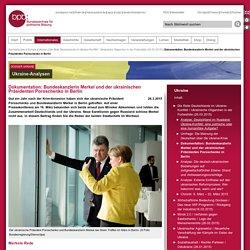 Dokumentation: Bundeskanzlerin Merkel und der ukrainischen Präsidenten Poroschenko in Berlin
