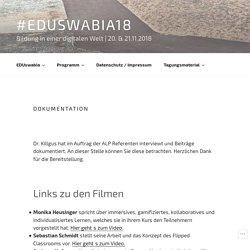 Dokumentation – #EDUswabia18