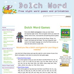 Dolch Word Games