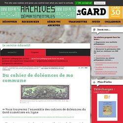 Du cahier de doléances de ma commune - Archives départementales du Gard
