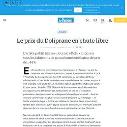 Le prix du Doliprane en chute libre - Le Parisien