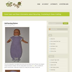 "13"" Baby Doll Bunting Pattern"