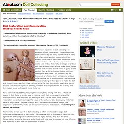 Doll Restoration:  What You Need To Know