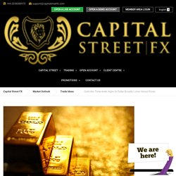 Gold Hits Three-week Highs As Dollar Broadly Lower Versus Rivals - Capital Street FX