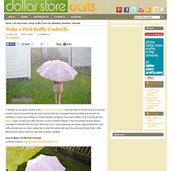 Make a Pink Ruffly Umbrella