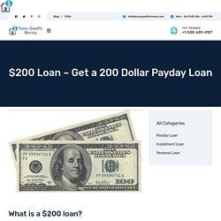 $200 Loan – Get a 200 Dollar Payday Loan