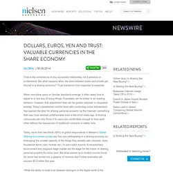 Dollars, Euros, Yen and Trust: Valuable Currencies in the Share Economy