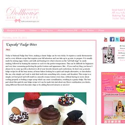 "Dollhouse Bake Shoppe Blog: ""Cupcake"" Fudge Cups"