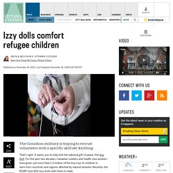 Izzy dolls comfort refugee children