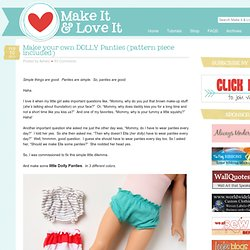 Make AG Doll Panties With Pattern