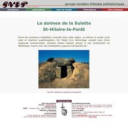 Le dolmen de la Sulette à St Hilaire-la-Forêtr
