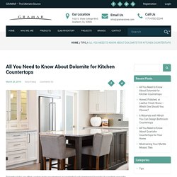 All You Need to Know About Dolomite for Kitchen Countertops