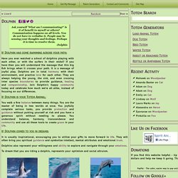Dolphin - Spirit Animal Totems and Messages