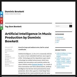 Dom Bowkett Archives - Dominic Bowkett
