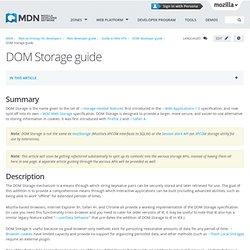 DOM Storage