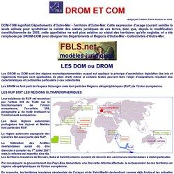 DOM TOM appelés DROM et COM