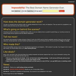 The Best Domain Name Generator Ever: Impossibility!