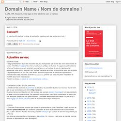 Domain Name / Nom de domaine !