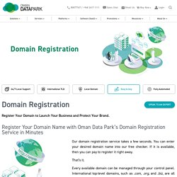 Registering Your Domain Name With Oman Data Park