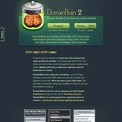 DomainBrain: Domain Management Software for the Mac