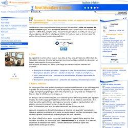 Domaine 3 : Traiter des données, créer un support, puis évaluer les apprentissages. - B2I - C2I