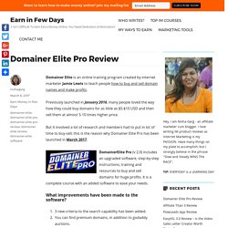 Domainer Elite Pro Review - Can Domain Names Make You Money?