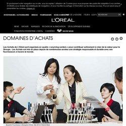 Domaines d'achats-L'Oréal Groupe