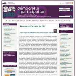 """Démocratie & Participation : Groupement d'Intérêt Scientifique (GIS) """"Participation du public, décision, démocratie participative"""". Participation-et-démocratie.fr"""