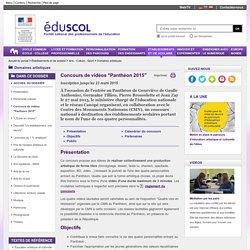 """Domaines artistiques - Concours de vidéos """"Panthéon 2015"""""""