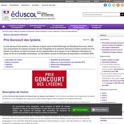 Domaines artistiques - Goncourt des lycéens