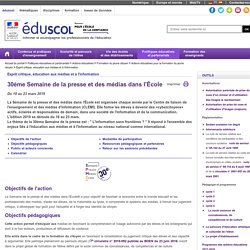 Domaines artistiques - 25ème Semaine de la presse et des médias dans l'École