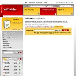 Domainsuche und Bestellung - Onlineshop der WebWide Internet Communication GmbH