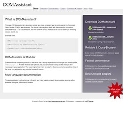 DOMAssistant, the modular lightweight JavaScript library, with C