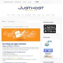 Een blog op eigen domein met Blogspot of WordPress