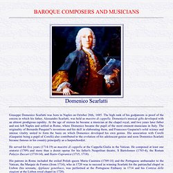 Domenico Scarlatti: a concise biography