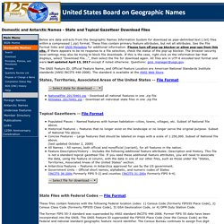 BGN: Domestic and Antarctic Names - State and Topical Gazetteer Download Files