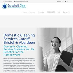 Domestic Cleaning Services Cardiff, Bristol & Aberdeen