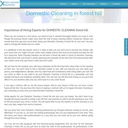 Domestic Cleaning forest hill