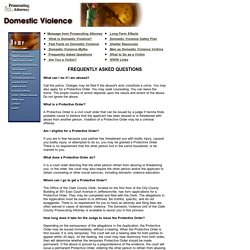 Domestic Violence: Frequently Asked Questions