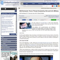 ISIS Domestic Terror Threat Created by CIA and U.S. Military