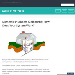 Domestic Plumbers Melbourne: How Does Your System Work? – Aussie of All Trades