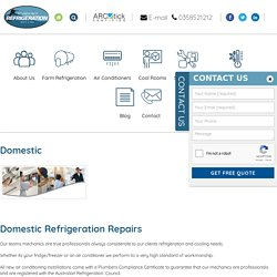 Refrigeration Services - Central Victoria