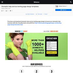 Domestic help service landing page design templates on Behance